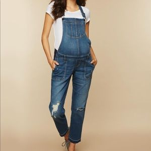 Maternity overalls distressed